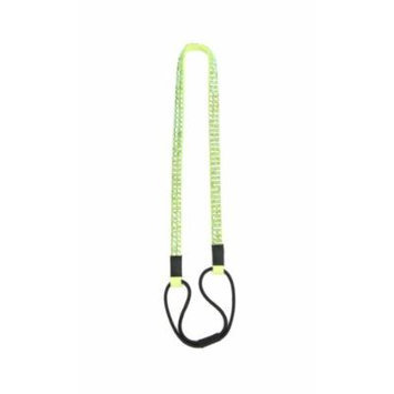 Two Row Bling Rhinestone Headband/ Elastic Stretch/ Rhinestone Hair Band Hair Accessory (iridescent green)