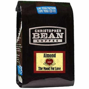 Christopher Bean Coffee Flavored Whole Bean Coffee, Almond The Mood for Love, 12 Ounce