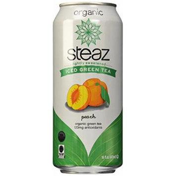 Steaz Organic Iced Teaz, Green Tea with Peac - 16 oz