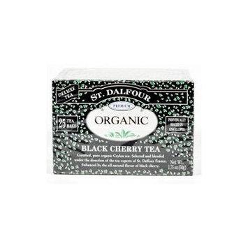 St Dalfour Organic Black Cherry Tea - 25 Tea Bags (Pack of 6) - Pack Of 6