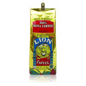 Hawaii Lion Kona Coffee 7 oz. Bean 100% Pure Kona