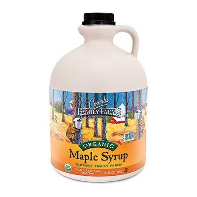 Coombs Organic Maple Syrup Grade A Dark Color Robust Taste/Grade B 64 Oz Half Gallon