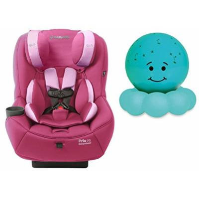 Maxi-Cosi Pria 70 Convertible Car Seat with Easy Clean Fabric and Blue Twilight On the Go Nightlight, Sweet Cerise