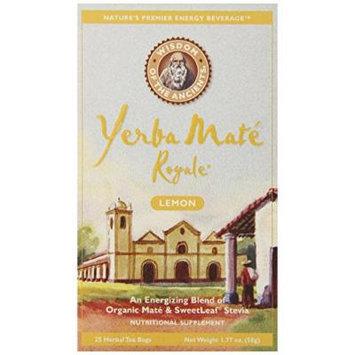 Wisdom of the Ancients Yerba Mate Royale Tea, Lemon, 25 Tea Bags (Pack of 6)
