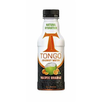 Tongo Coconut Water, Pacific Orange, 16-Ounce (Pack of 12)