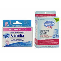 Boiron Camilia Teething Relief (30 Count) with Hyland's Tablets