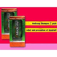 Medicasp Shampoo Anti Dandruff Ketoconazole 1% Best Fungus Treatment 2 Pack