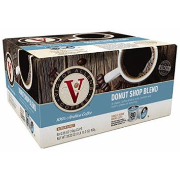 Victor Allen Coffee, Donut Shop Single Serve K-cup, 80 Count (Compatible with 2.0 Keurig Brewers)