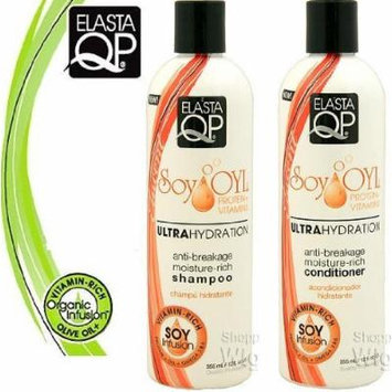 Elasta QP Soy Oyl Ultra-Hydration Double Set (Shampoo and Conditioner). Plus 1 free pencil