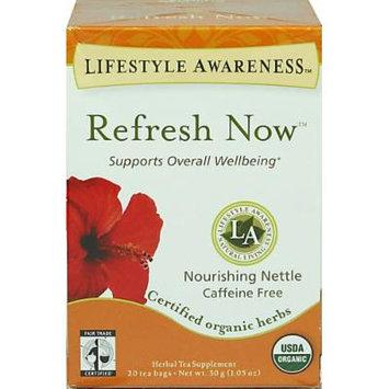 Lifestyle Awareness Organic Refresh Now Tea-20 Bags