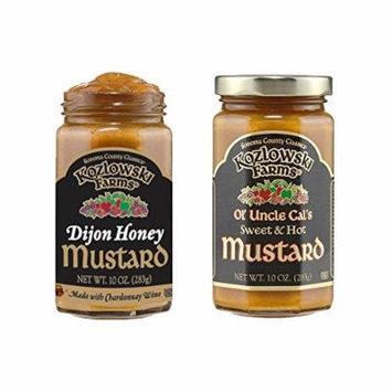 Kozlowski Farms - Amazing Mustards - Kosher KSA - Mustard Variety Pack - 2 Pack (10 oz each)