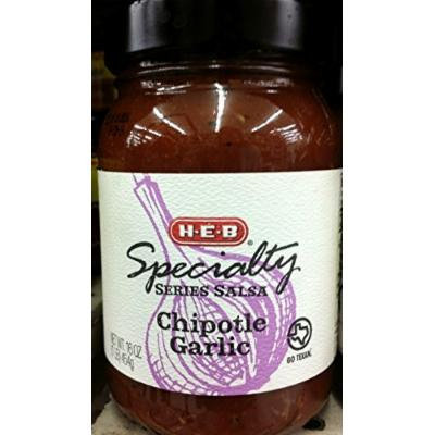 HEB Speciality Series Salsa 16 Oz (Pack of 2) (Chipotle Garlic)