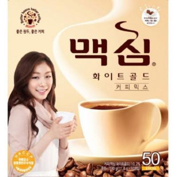 MAXIM Mocha White Gold Mild Instant Coffee Mix - 50 Sticks