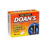 Doan`s Backache Pain Reliever Extra Strength Caplets 24 ct (2pack)