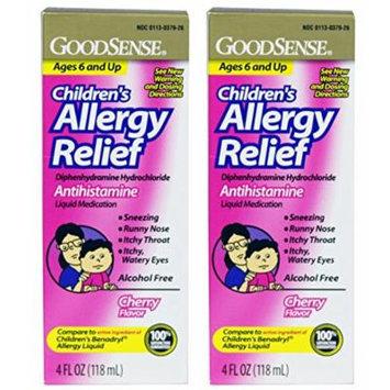 Goodsense Childrens Allergy Liquid Medicine, 4oz 2-pack (8 Fl Oz), Compare to Childrens Benadryl Allergy Liquid