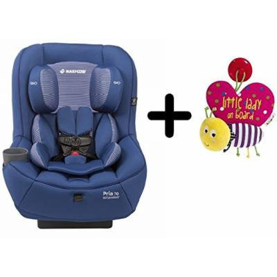 2015 Maxi-Cosi Pria 70 Convertible Car Seat - Blue Base + Mamas & Papas Babyplay Little Lady on Board Sign - Butterfly