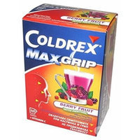 Max Flu Cold Berry fruit Coldrex Paracetamol Ascorbic Acid* HOTREM BERRY FRUIT Powders. ..with Menthol