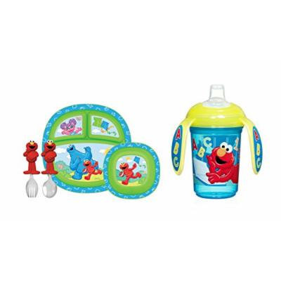 Munchkin Sesame Street Toddler Dining Set with Trainer Cup, Blue