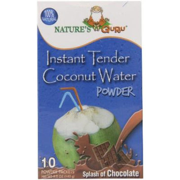 Nature's Guru Instant Tender Coconut Water Powder with Chocolate, 10 Count (Pack of 8)