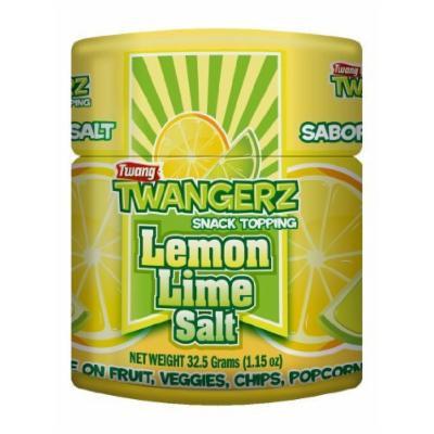 Twang Twangerz Flavored Salt Snack Topping - Lime, Lemon Lime, Chili Lime, Mango Chili & Dill Pickle (Mango Chili, 12 Pack)