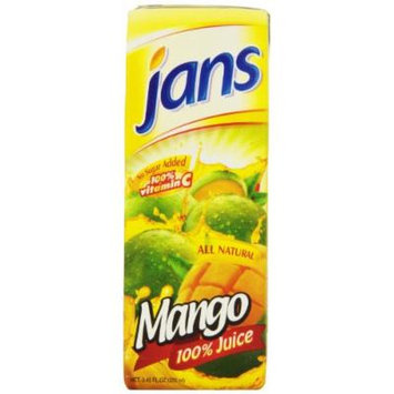 Jans Mango Exotic Tropical Juice, 8.45-Ounce (Pack of 24)