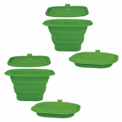 Green Sprouts Collapsible Silicone Storage Bowl, Green - Set of 2