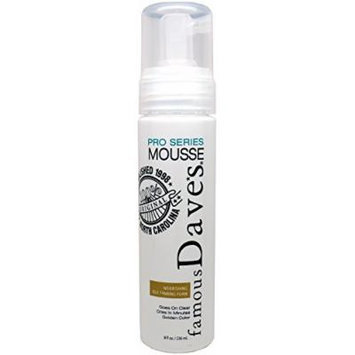 Famous Dave's Self Tanner Mousse Pro Series - Nourishing Self Tanner Foam for Body and Face - Waterproof