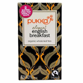 Pukka Herbal Teas Organic Elegant English Breakfast Tea, 20 Count
