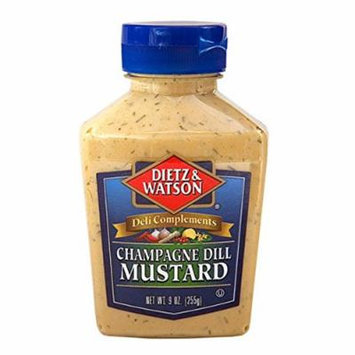 Dietz & Watson, Deli Compliments, Champagne Dill Mustard, 9oz Bottle (Pack of 2)