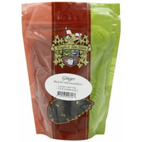 English Tea Store Loose Leaf Pouches, Ginger Naturally Flavored Black Tea, 4 Ounce
