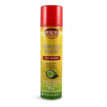 African Pride Miracle Sheen Conditioning Oil Spray 9oz