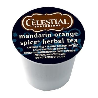 Celestial Seasonings Mandarin Orange Spice Herbal Tea 24 K-Cups x 2 Boxes for Keurig Brewers