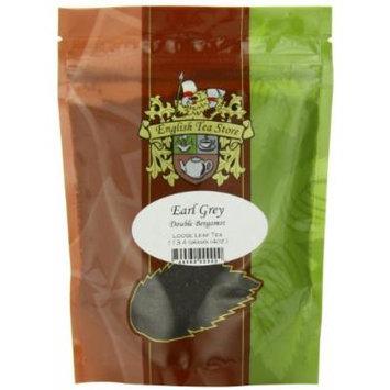 English Tea Store Loose Leaf, Double Bergamot Earl Grey Tea Pouches, 4 Ounce