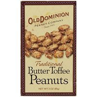 Old Dominion Traditional Butter Toffee Peanuts 3 OZ Box &