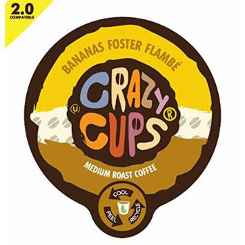 Crazy Cups Banana Foster Flambe Flavored Coffee Single Serve Cups (88 Count)