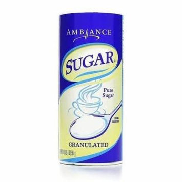 Ambiance Granualated Sugar, 20oz (567g) Canister