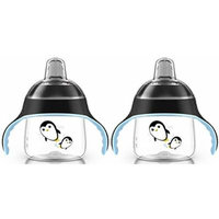 Philips Avent 7 Ounce My Penguin Sippy Cup, 2 Pack, Black/Black