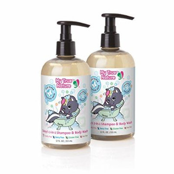 My True Nature Daisy's 2-in-1 Shampoo/Body Wash, Unscented, 12 Ounce, 2 Count