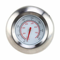 AGPtek® 3'' Cook Smoke Grill Thermometer Gauge for BBQ/Camping/Oven/Food (White)