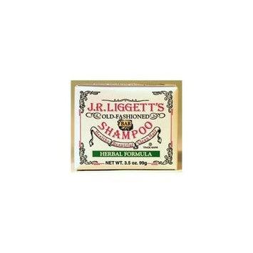 J.R. Liggett's Bar Shampoo, Herbal Formula, 3.5 Oz (Pack of 4)