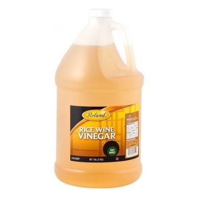 Roland: Unseasoned Rice Wine Vinegar 1 Gallon (4 Pack)