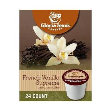 Gloria Jean's French Vanilla Supreme Coffee (1 Box of 24 K-Cups)