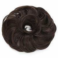 OneDor® Synthetic Curly Elastic Hair Band Hairpiece Scrunchie Wig for Ponytail (6#-Chestnut Brown)
