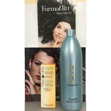 Tricogen Lotion 100 Ml (3.37 Fl. Oz) Plus 515 Sebo Care Shampoo 1000ml