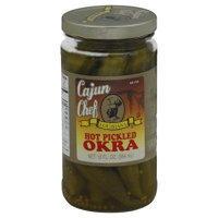 Cajun Chef, Okra Pickled Hot, 12 OZ (Pack of 12)