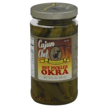 Cajun Chef, Okra Pickled Hot, 12 OZ (Pack of 12)