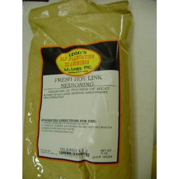Leggs Old Plantation Fresh Hot Link Seasoning (Seasons 25lbs)