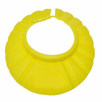 Generic Cute Pure Adjustable Shampoo Shower Bathing Bath Protect Soft Cap Hat For Baby (yellow)