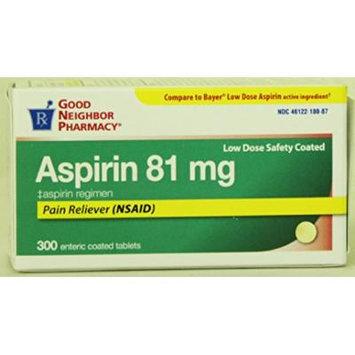 Good Neighbor Pharmacy Aspirin 81mg (300 Tablets)