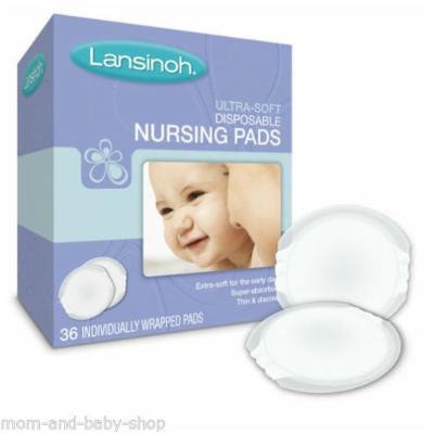 NEW LANSINOH DISPOSABLE NURSING BRA PADS 36 CT #20260